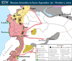 Russian Airstrikes in Syria: September 30-October 1, 2015