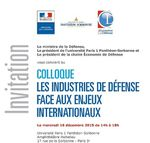 Intervention de Monsieur Louis GAUTIER lors du colloque « Les industries de défense face aux enjeux internationaux »