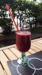 Smoothie : Fraise, framboise, mure, pasteque