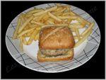 Burger comté et confit d'oignon