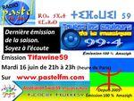 Tifawine 59 : mardi 16 juin 2015, dernière émission de la saison