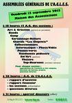 Assemblées générales des sections et de L'A.C.L.E.S.