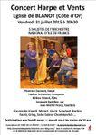 L'affiche du concert 2015 de Blanot (Côte d'Or)