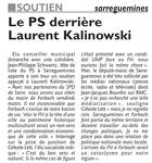 les élus sarregueminois soutiennent Kalinowski