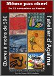 """A partir du 22 Novembre 2015, Expo """"Même pas cher""""  Atelier d'AGALMA . Carla Bayle"""