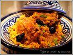 Tagine de couscous au poulet et aux olives