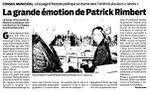 La grande émotion de Patrick Rimbert