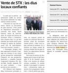 Ouest France , hier, concernant la vente de STX