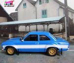 BRIAN'S 1974 FORD ESCORT RS2000 MK1 FAST AND FURIOUS 6 GREENLIGHT 1/43