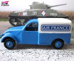 CITROEN 2CV FOURGONNETTE AIR FRANCE J.R.D 1/43