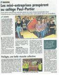 Les mini-entreprises du collège Paul Portier