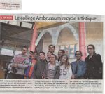 Le collège Ambrussum recycle artistique