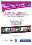 """- Première """"JOURNEE CARREFOUR DES PARENTS"""" gratuite à ORLEANS le vendredi 28 novembre 2014"""