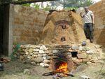 2015, deuxième expérimentation de cuisson des émaux alcalins