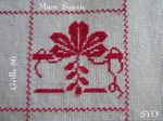SAL : Plaid Broderie Rouge... Grille 86/ M3