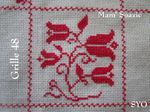 SAL : Plaid Broderie Rouge... Grille 48 / I7