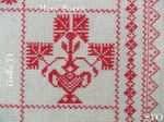 SAL : Plaid Broderie Rouge... Grille  71 / M7
