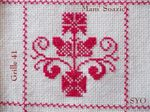 SAL : Plaid Broderie Rouge... Grille  41 /H10