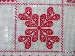 SAL : Plaid Broderie Rouge... Grille  88 / E13
