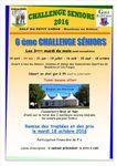 Rappel, L'avant dernier tour du Challenge Séniors mardi prochain