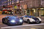 Pour les 6 ans de Bugatticars, 3 Bugatti Veyron à Genève
