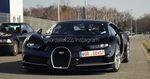 Poursuite des tests de mise au point de la Bugatti Chiron