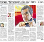 """Interview à Ouest-France : François Fillon lance son projet pour """"libérer"""" le pays"""