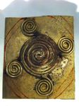 Création d'une fibule en argent, bronze et cornaline.