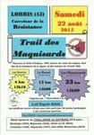 Trail des Maquisards à Lorris.2015
