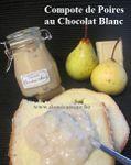 Compote de Poires au Chocolat Blanc ...