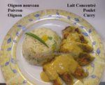 ww: Emincés de Poulet sauce Curry Allégée, Riz aux Poivrons ...