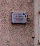 Apposition d'une plaque commémorative en l'honneur de René Alazard