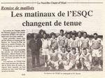 L'équipe de foot change de maillot en septembre 1997 à La Neuville Chant d'Oisel