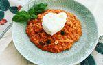 risotto cuor di pomodoro con mozzarella di bufala