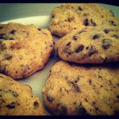 Véritables cookies aux pépites de chocolat