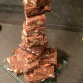 Fudges chocolat aux fruits secs