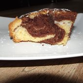 Gâteau marbré vanille chocolat