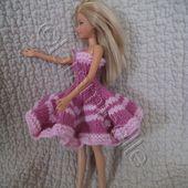 tuto gratuit barbie &#x3B; robe bustier virevoltante améthyste - Chez Laramicelle