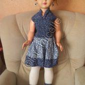 tuto gratuit poupée : robe, collants et bottes avec de la récupération