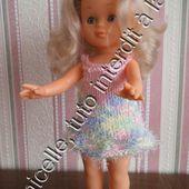 tuto gratuit poupée: robe à bretelles pour tricoteuses débutantes - laramicelle
