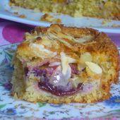 """"""" Autour du fruit """" avec notre recette de gâteau moelleux aux prunes rouges et aux amandes - Les Secrets de Cuisine de Christine"""