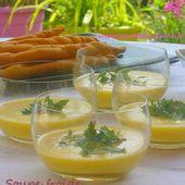 Soupe froide de courgettes jaunes au lait de coco et gingembre : défi Cuisine VG de l'été - Les Secrets de Cuisine de Christine