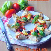 Pizza soleil - Les Secrets de Cuisine de Christine