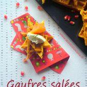 Gaufres salées ciboulette piment d'Espelette - Les Secrets de Cuisine de Christine