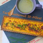 Tarte butternut St-Môret, pâte brisée parmesan sarrasin - Les Secrets de Cuisine de Christine