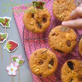 """Cupcakes moelleux aux raisins secs et aux pignons pour """"Cuisinons avec et pour les enfants"""" - Les Secrets de Cuisine de Christine"""