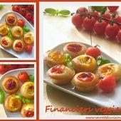 Financiers veggie à la féta, tomate cerise et basilic - Les Secrets de Cuisine de Christine