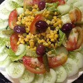 Salade de comcombre - Les saveurs culinaires de Rosa