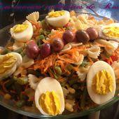 Salade de pâtes - Les saveurs culinaires de Rosa