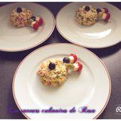 Salade de riz gastronomique - Les saveurs culinaires de Rosa